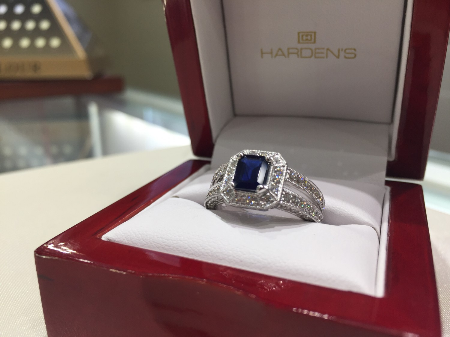 Beautiful custom ring by Harden's Jewellers