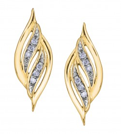 Kanata Canadian Certified Gold Round Diamond Earrings